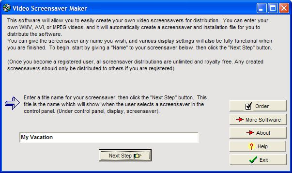 Click to view Video Screensaver Maker 2.18 screenshot