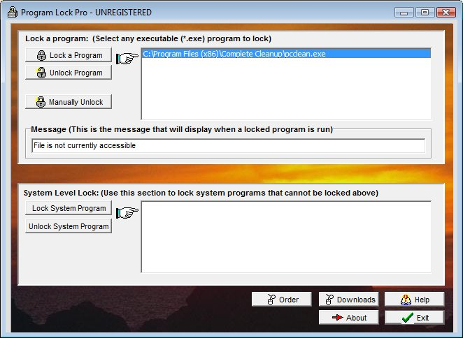 Program Lock Pro