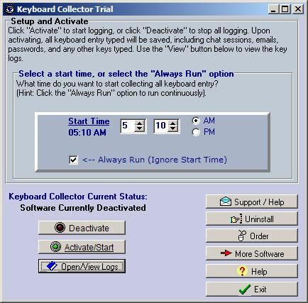 Click to view Keyboard Collector 2.09b screenshot